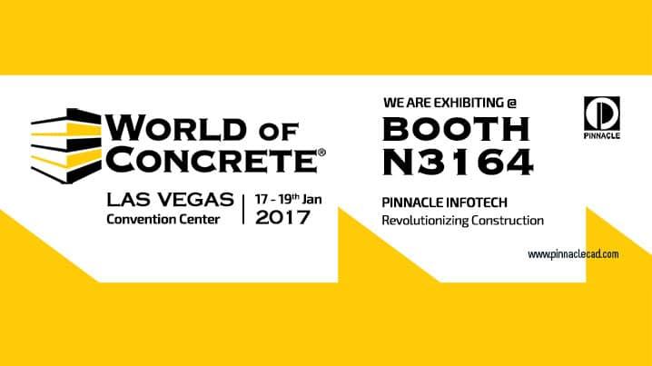 Pinnacle Partaking Third Time @2017 World of Concrete, Las Vegas