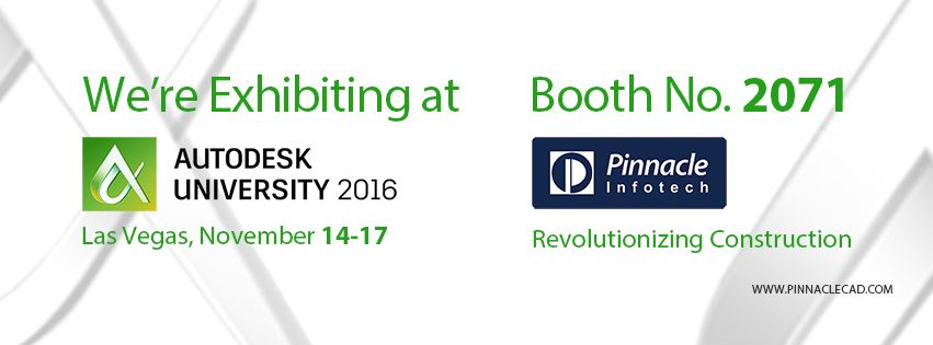 Pinnacle Participating @ AU2016 Exhibition & Classroom Sessions
