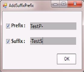 Adding Suffix & Prefix