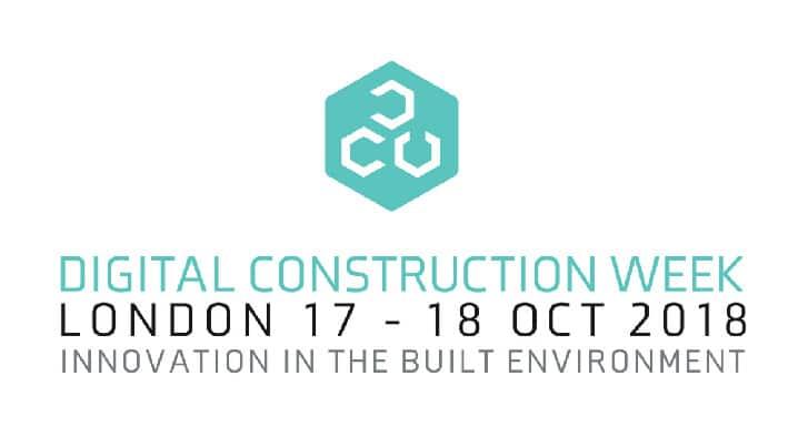 Digital Construction Week, London, 17 – 18 October, 2018