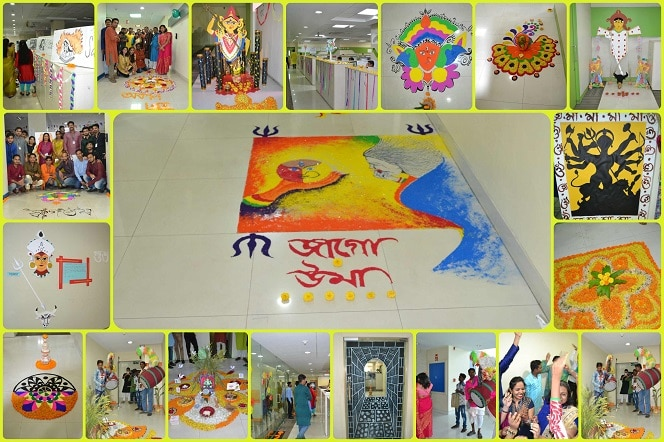 Floor Decoration Competition on Durga Puja Eve
