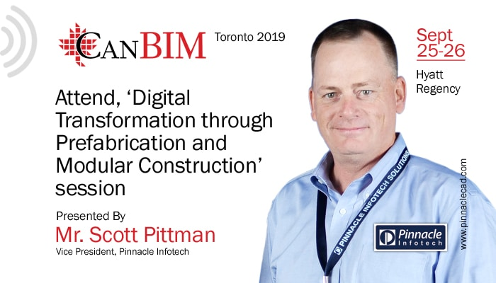 Scott Pittman, Our VP of US Operation will be Talking at CanBIM