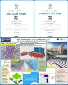 Pinnacle Infotech - Winner in Jury's choice & Popular choice categories at Tekla Voice Your Talent Competition.