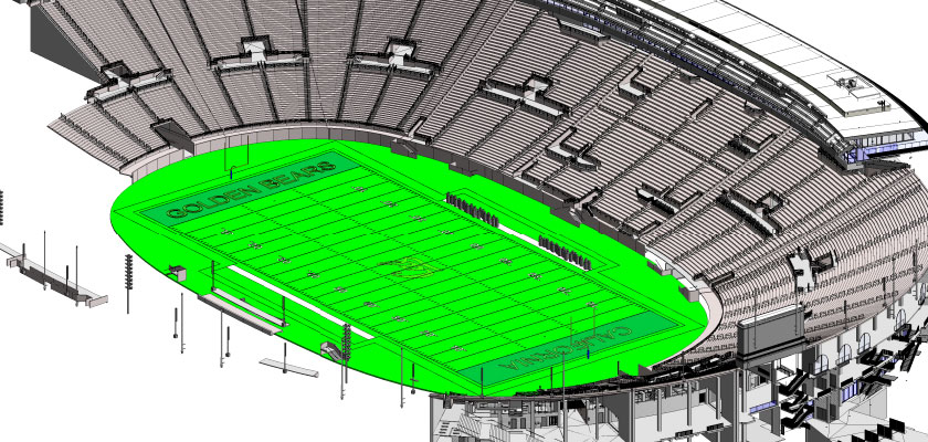 architectural_bim_model_UC Berkeley Memorial Stadium