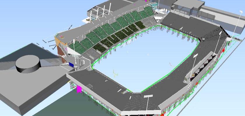 bim_architectural_modeling_Tulane University Football Stadium