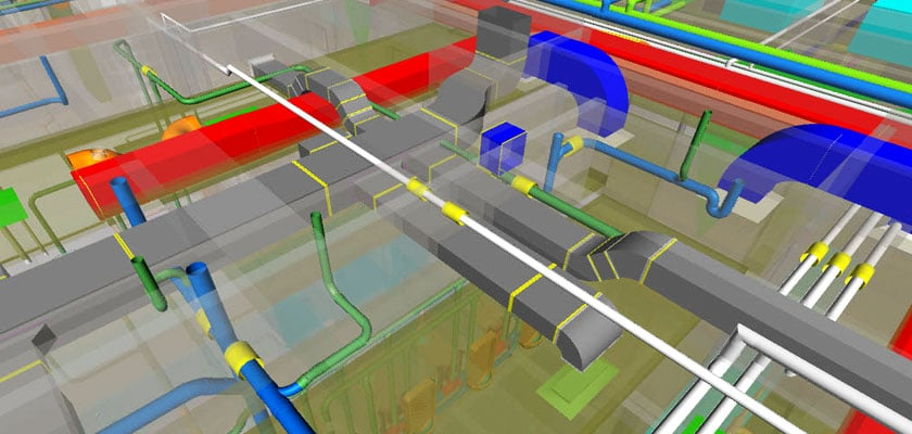 mechanical_bim_service_University of_Houston_football_stadium